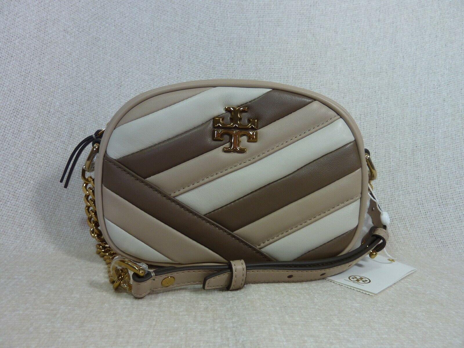 Primary image for NWT Tory Burch Color Block Kira Chevron Small Camera Bag $398
