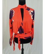 """Free People women PS orange """"Say You Love Me"""" floral top long sleeve - $44.55"""