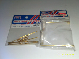 "Doll Glasses 7/8"" & 2 3/4"" Westrim Crafts #6595 & #6558 - $3.15"