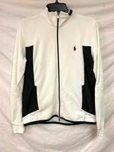 Polo by Ralph Lauren Golf Dry Fit Full Zip Black White Warm Up Jacket Medium - $79.19