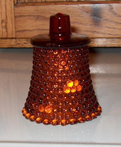 HOMCO Home Interiors Votive Cup Candle Holder Amber Hobnail - $3.65