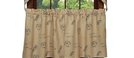 Olivia's Heartland TIMBER TRAIL rustic country hunting cabin lodge TIER curtains - $34.95+
