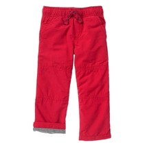 NWT Gymboree Boys Pull on Pants Fleece lined Red gymster 2T - $19.79
