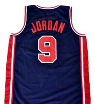 Michael Jordan #9 Team USA Basketball Jersey Navy Blue Any Size image 5
