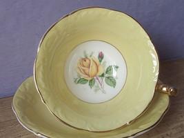 Vintage 1960's Paragon Bone Cnina Yellow rose tea cup, Yellow English teacup - $157.41