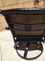 Fire pit dining propane table set 7 piece outdoor cast aluminum patio furniture image 11