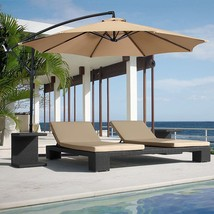 Patio 10 ft Cantilever Umbrella Offset Hanging Market Crank Pool Garden ... - $130.85 CAD