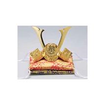 Golden Kabuto statue - Yoshitsune Minamoto - w double cushion - Samurai ... - $202.61