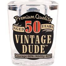 Vintage Dude 2 Oz. Shot Glasses 50 Years, Case of 6 - $45.30