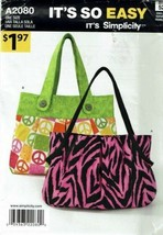Simplicity Sewing Pattern 2080 Purse Bag Tote - $5.39