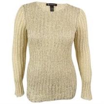 INC International Concepts, Women's, Open Knit Metallic Sweater, Butterc... - $32.49