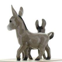 Hagen Renaker Miniature Farm Burro Donkey Mama and Baby Ceramic Figurine Set image 4