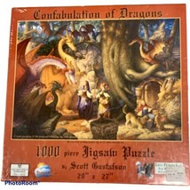 Confabulation of Dragons 1000 Piece Puzzle From Sunsout, New/Sealed - $14.50