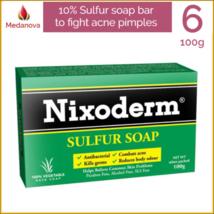 6x NIXODERM 10% Sulfur Soap to treat acne, skin problems, pimples, clogg... - $34.18