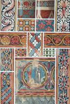 CHURCH PAINTINGS 13th C at Agen Saint Emilion France - 1888 COLOR Litho ... - $21.60