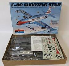 Vintage 1983 MONOGRAM 'F-80 Shooting Star' 1:48 Jet Airplane Model Kit #5428 - $35.00