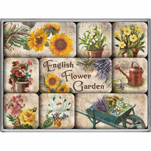 signs-unique na English Flower Garden large embossed weathered metal sign and se