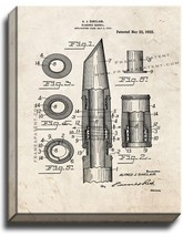 Clarinet Barrel Patent Print Old Look on Canvas - $39.95+