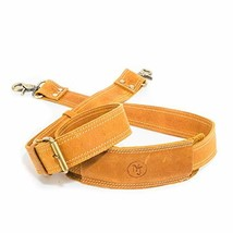 Messenger Bag Strap Replacement - Quality Genuine Cowhide Leather Adjustable Sho image 1