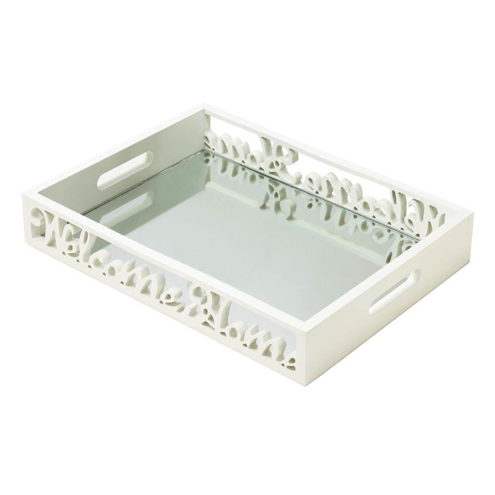 Tray Serving Tray, Welcome Home Small Modern Flat Lightweight Bed Tray Breakfast