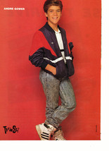 Andre Gower teen magazine pinup clipping Adidas jacket cuite Teen Beat Bop