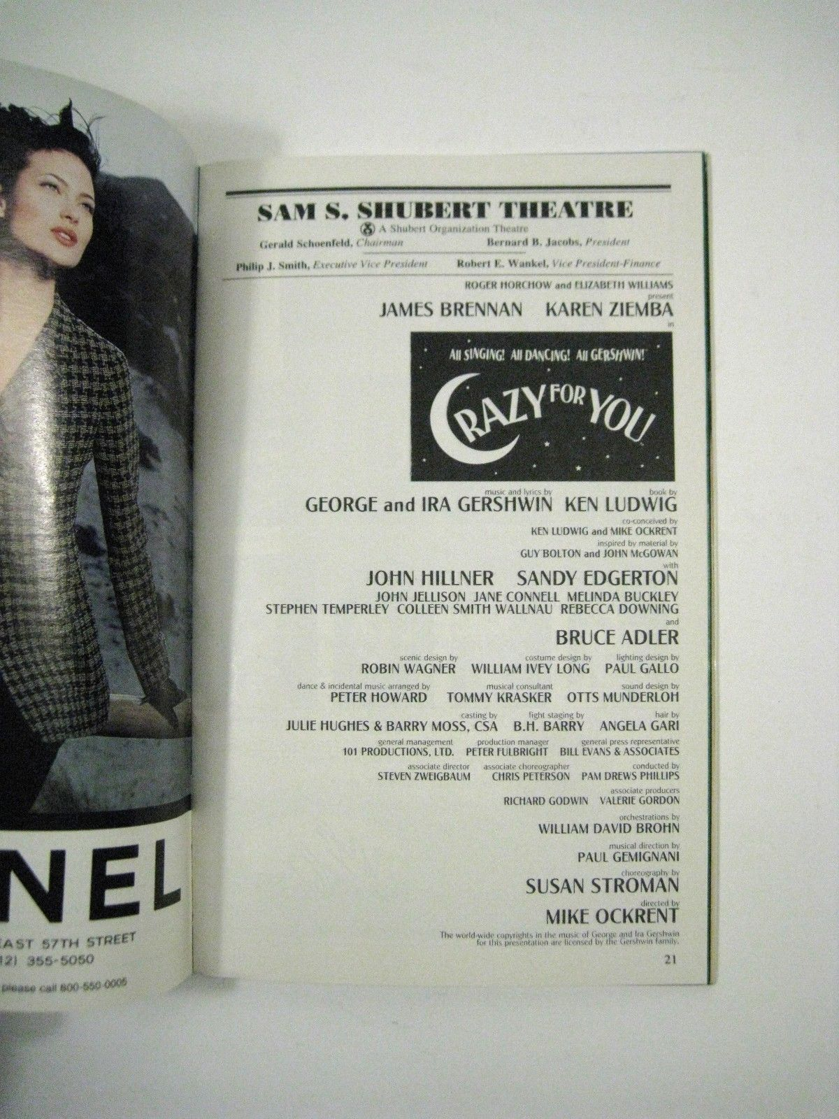 Crazy for You Playbill July 1995 Shubert Theatre Volume 95 No 7 James Brennan