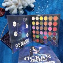Charm Beauty Glazed 36 colors Eyeshadow Pallete Blue Mermaid Eye Makeup Shimmer  - $31.15