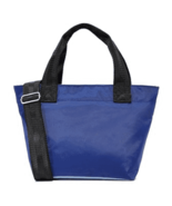 Studio 33 Navy Light Blue Small Tote Attached ID Tag Strap Convertible C... - $23.74