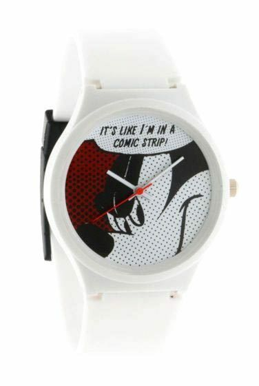 Flud Disney Mickey Mouse Prologue Comic l White Quartz Wrist Watch New in Box