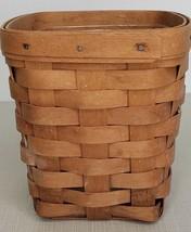 "Longaberger Wall Hanger Basket 1996 6x5.5"" with liner - $19.40"