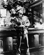 Alan Ladd Shane Firing Gun In Bar B&W 16x20 Canvas Giclee - $69.99