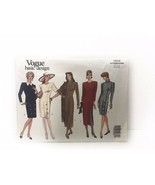 Vogue Basic Design 1010 Misses Petite Fitted Dress Sewing Pattern Vintage - $10.88