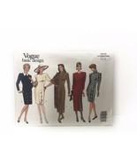 Vogue Basic Design 1010 Misses Petite Fitted Dress Sewing Pattern Vintage - $10.88