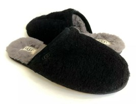 Ugg Fluffette Black Wool Shearling Lined Slippers Us 9 / Eu 40 / Uk 7 - $79.48