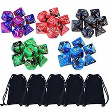 NEW Lot Of 35 DD Dungeons And Dragons Dice 5 Sets with 7 + Pouch FREE S... - $11.90