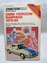 CHILTON Repair Manual #6845 Dodge Omni/Horizon/Rampage/Shelby Charger 1978-1989! - $16.50