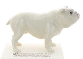 Hagen-Renaker Miniature Ceramic Dog Figurine Bulldog Standing White