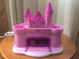 Pink Princess Disney Castle Alarm Clock AM/FM Radio & Ceiling Projector Works - $17.72