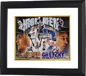 Wayne Gretzky unsigned Ironman 16x20 Custom Framed- MLB Hologram