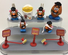 Mr Potato Head Kids Meal Toys Lot 9pc Burger King Hasbro Vintage 1998 A1 - $14.80