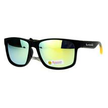 Biohazard Sunglasses Mens Fashion Matted Rectangular Frame Mirror Lens - $10.95
