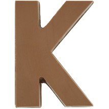 Philadelphia Candies Solid Milk Chocolate Alphabet Letter K, 1.75 Ounce Gift - $6.92