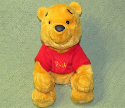 "DISNEY STORE 10"" WINNIE THE POOH BEANBAG SOFT PLUSH STUFFED ANIMAL RED S... - $7.70"