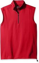 Greg Norman PGA Adult Men 1/4 Zip Vest,Large,British Red - $62.71