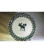 "Tienshan North Country Moose Country Stoneware Round Platter 12""  Folkcraft - $6.29"