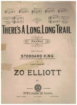 Sheet Music - There's A Long, Long Trail ~ 1913 ~ Stoddard King ~ Zo Ell... - $9.85