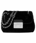 NWT Michael Kors Women's Sloan Shearling Shoulder Handbag, Black - $141.61