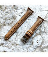 Light Brown Slim Leather Watch Band for Garmin Darth Vader & First Aveng... - $25.99