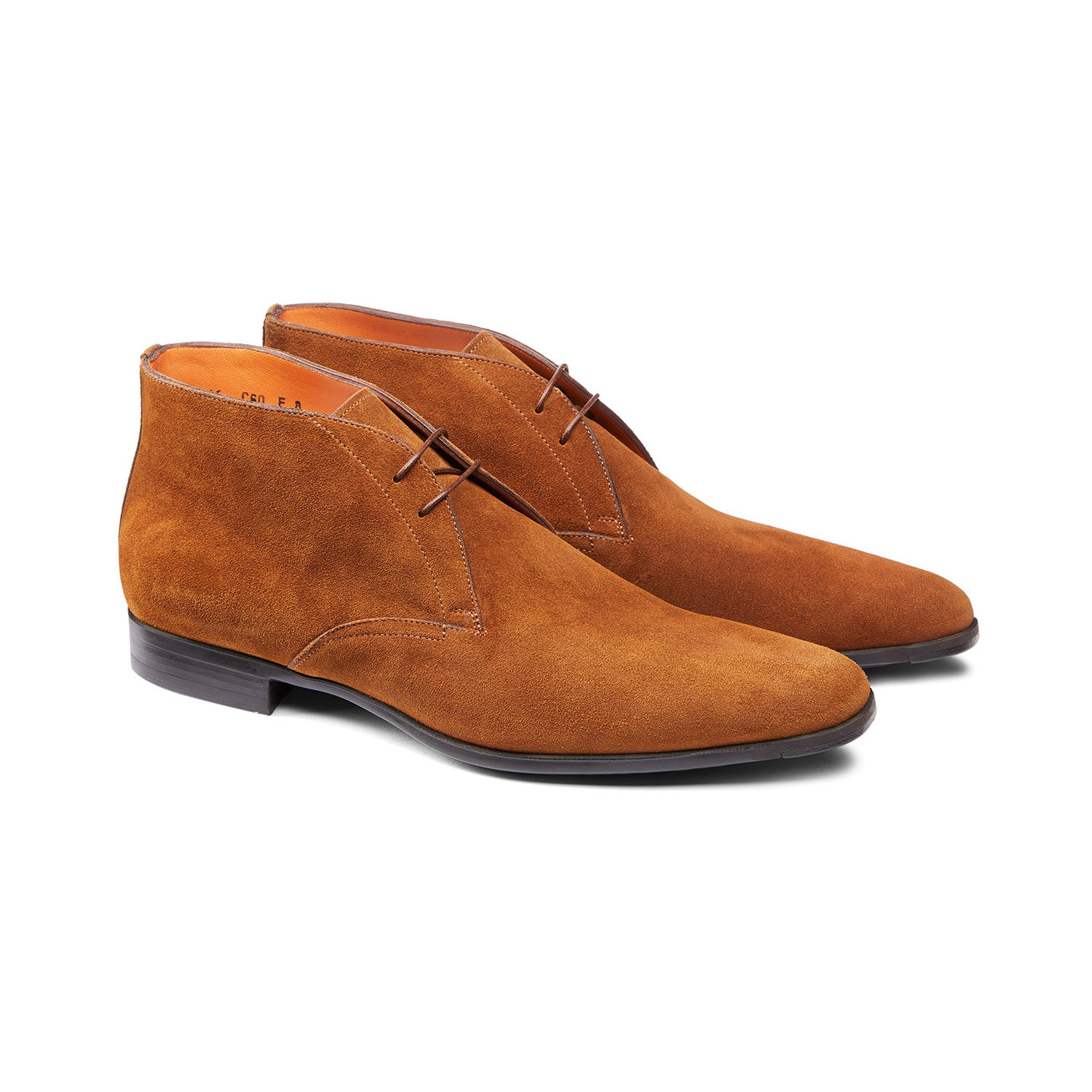 Handmade Men's Brown Suede Chukka High Ankle Lace Up Boots