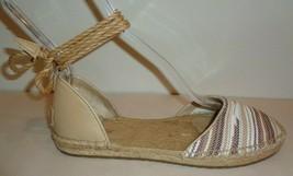 UGG Australia Size 10 LIBBI SERAPE Chestnut Espadrille Flats New Womens Shoes - $127.71